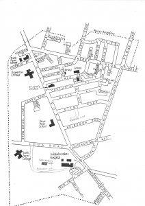 St John the Evangelist parish boundary