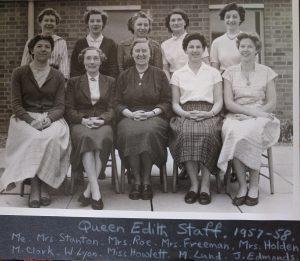 Queen Edith School Staff 1957-8