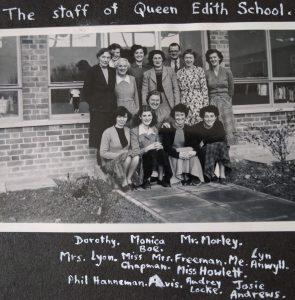 Queen Edith School Staff circa 1955